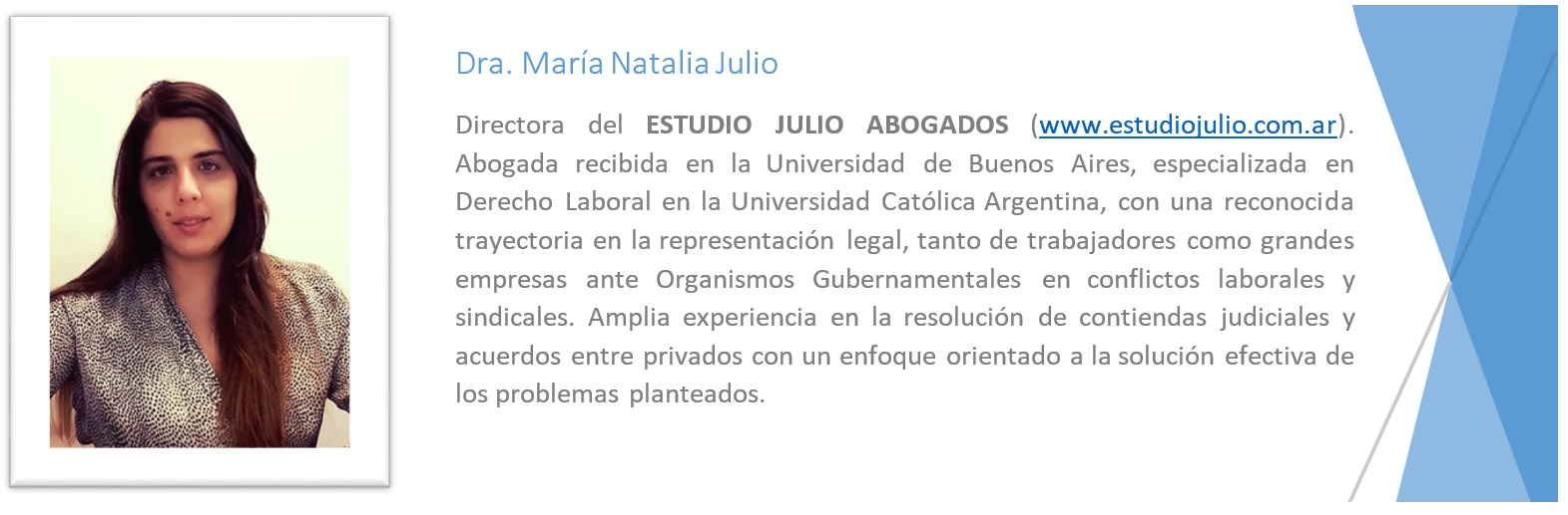 Referencias Dra Natalia Julio